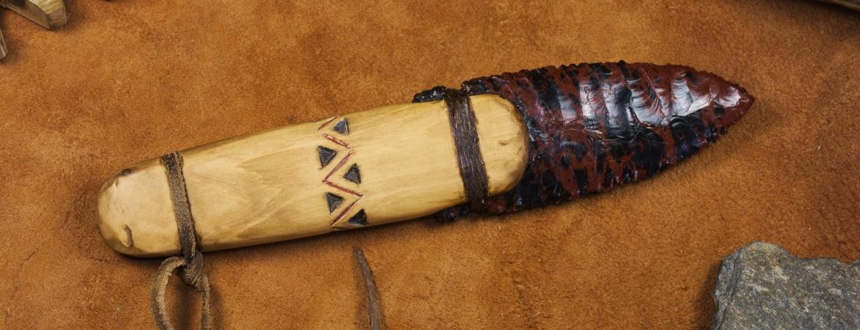Basketmaker style obsidian blade knife C1704